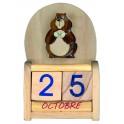 DE0220 - Calendrier bois Marmotte
