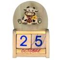 DE0162 - Calendrier bois Vache